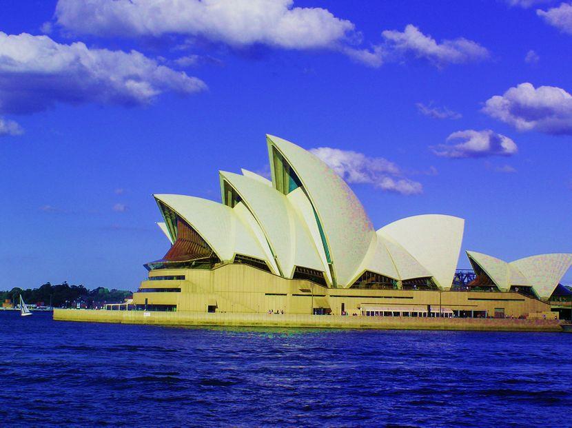 悉尼歌剧院图片手绘