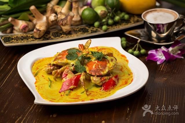 虾片 菠萝海鲜炒饭 招牌咖喱皇炒虾 绿咖喱海鲜饭 椰汁鸡肉汤 泰式图片