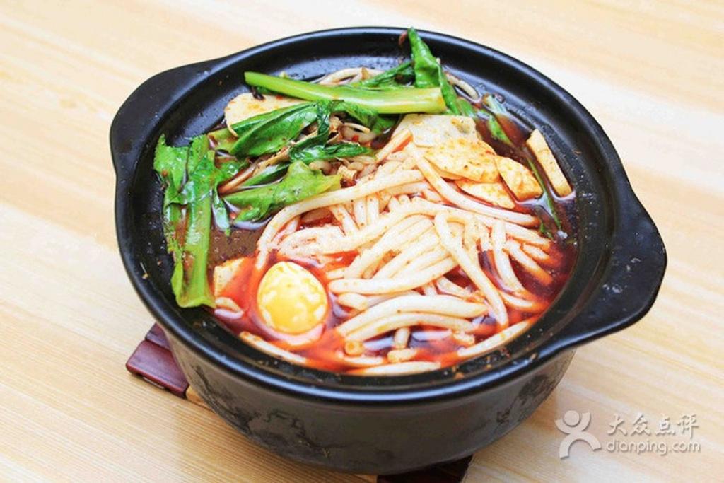 砂锅米线唯美图片