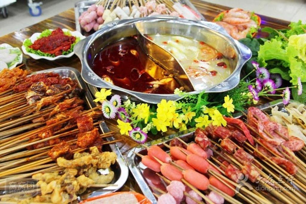 葱卷串串香