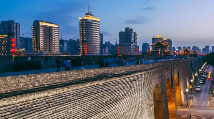 西安城墙旅游图片