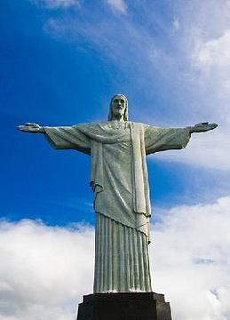 里约耶稣像矢量图