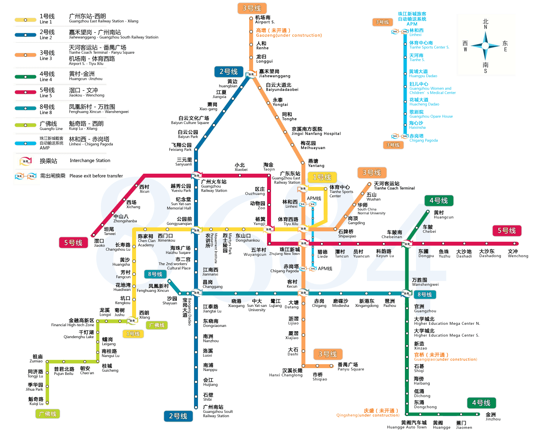 广州地铁线路图图片