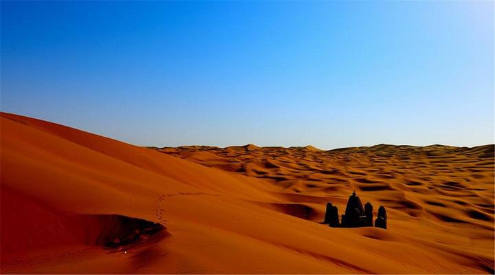 新疆沙漠高清素材背景