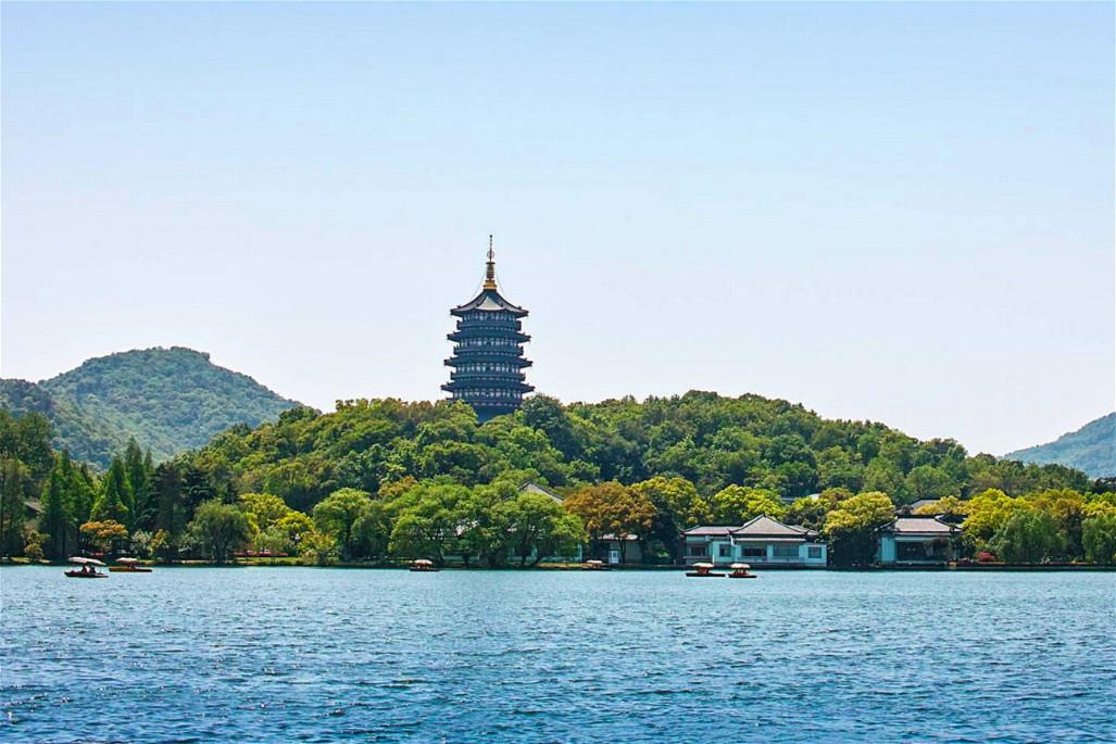 杭州西湖风景简笔画