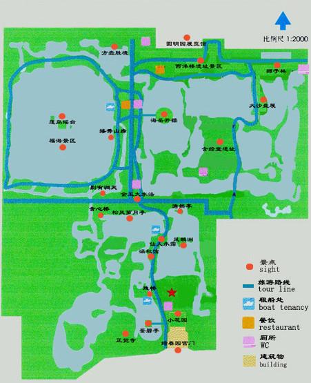 圆明园旅游导图