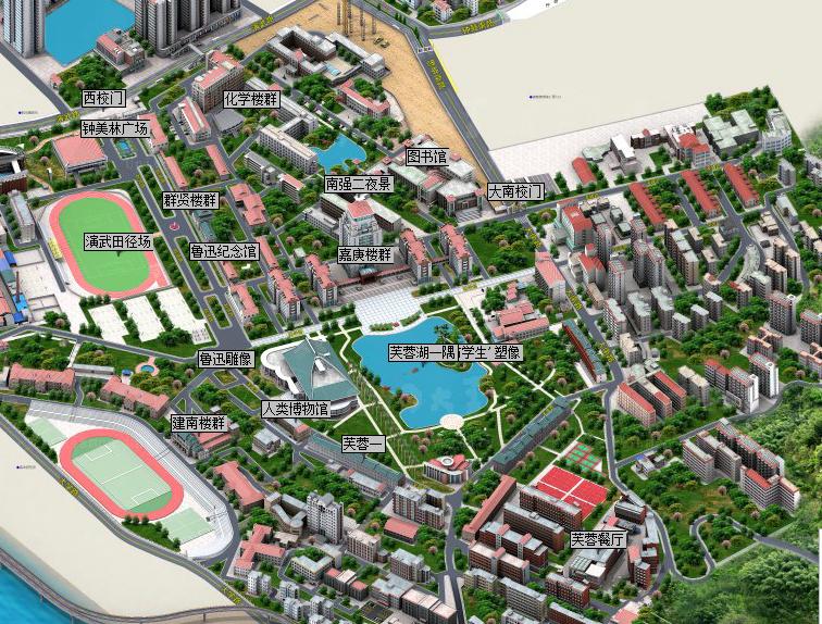 厦门大学旅游导图