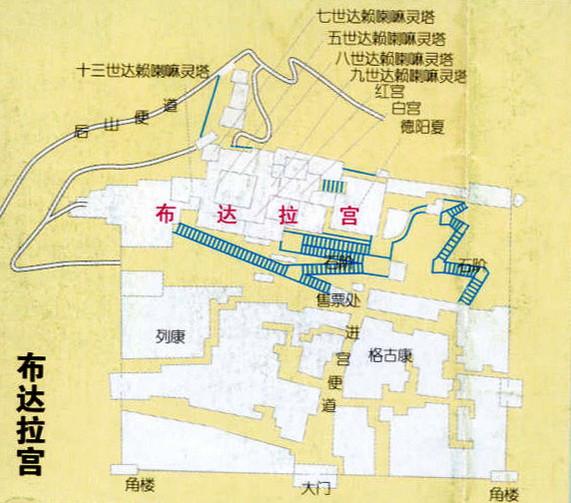 布达拉宫导游图