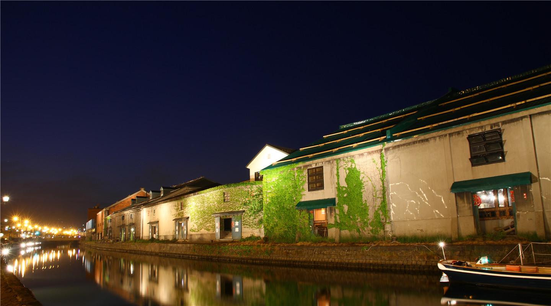 小樽运河夜景