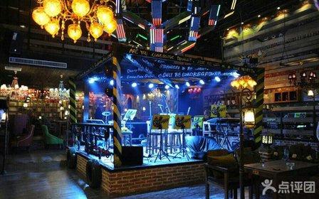 音乐主题餐厅收银台的设计图展示
