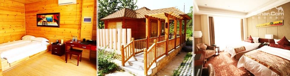 按简约欧式风格设计装修,内部豪华典雅,设施齐全,并设 有温泉疗养区
