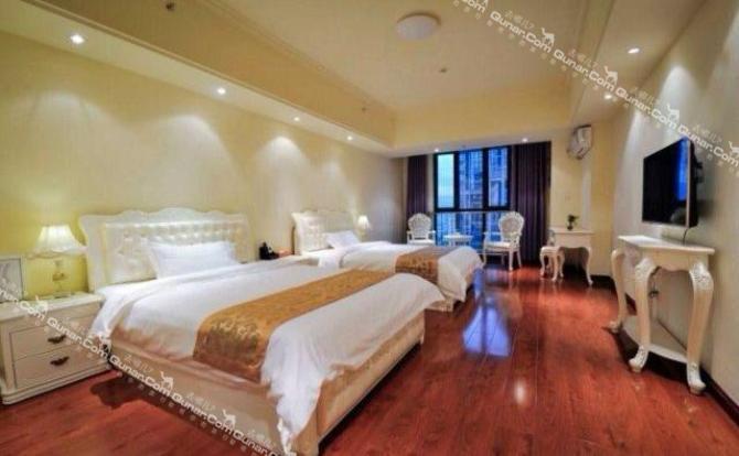 酒店拥有欧式,英式,中式,英伦,古典等各式风格客房,房间面积最小约50