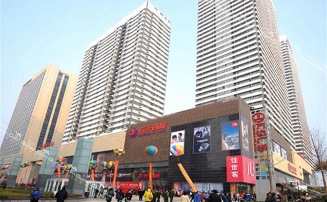 """青岛cbd万达广场是超大城市综合体,做到""""足不出楼""""就能购物,娱乐"""