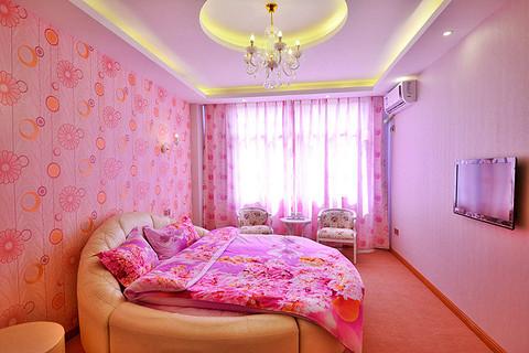 欧式别墅卧室大圆床图片大全2014图片