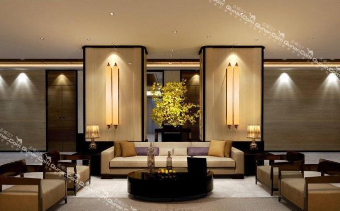 酒店建筑为新中式风格,极具中式和现代感的客房设计,家一般亲切的图片
