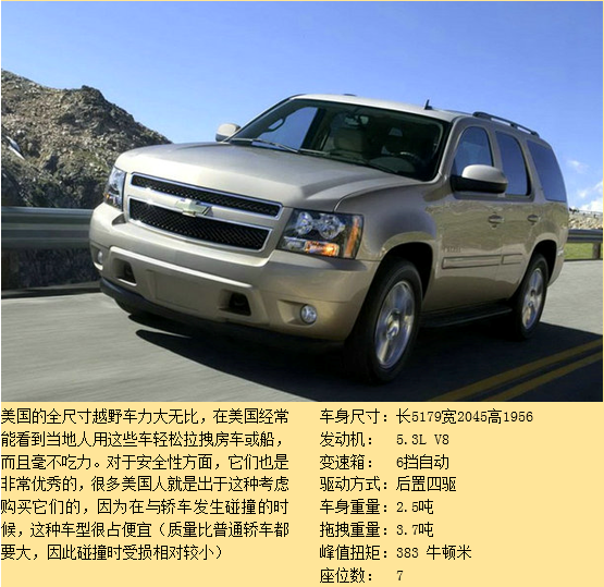 xl ( 8-9 座,舒适乘坐 4-5 人) 3) 加长版越野车,参考: 雪佛兰-城郊 s