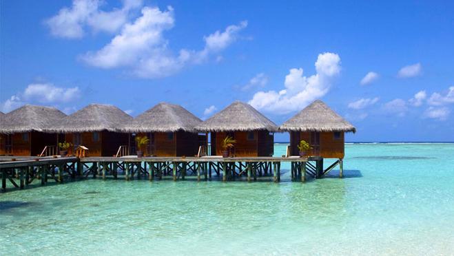 白金岛/双鱼岛/天堂岛/蓝色美人蕉岛>*2晚沙滩别墅 2晚水上别墅* 含全