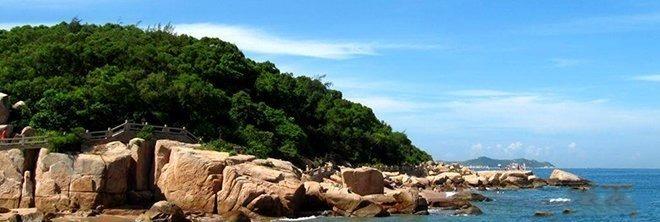 广东海滩 沙滩 珠海外伶仃岛浪漫海岛风情之旅二日游