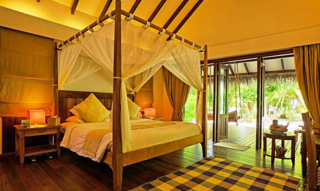 沙滩别墅套房设有两间卧室