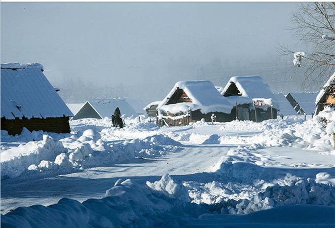 东北雪乡_比较典型的东北村庄,相对雪乡还属于比较原始的生态景区,保持相对淳朴