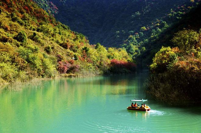 国家aaaa级旅游景区----郧西五龙河风景区(游览约4小时),,经过龙门