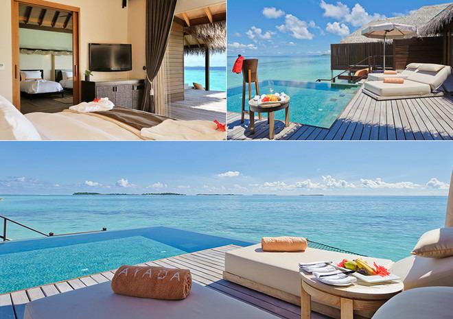 马尔代夫顶级奢华六星度假村阿雅达岛1晚马累 2晚沙滩别墅 2晚水上