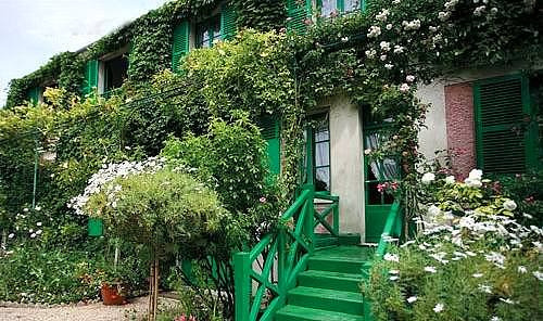 乘车前往法国著名花园小镇— 吉维尼小镇,绚丽烂漫的法国吉维尼小镇坐