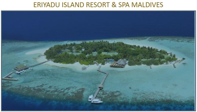 马尔代夫艾雅度岛自由行4晚沙滩屋+早晚餐+快艇接送美佳航空香港直飞