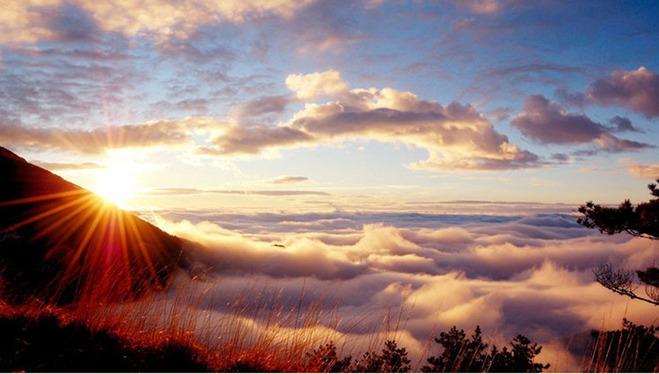 高山云海日出