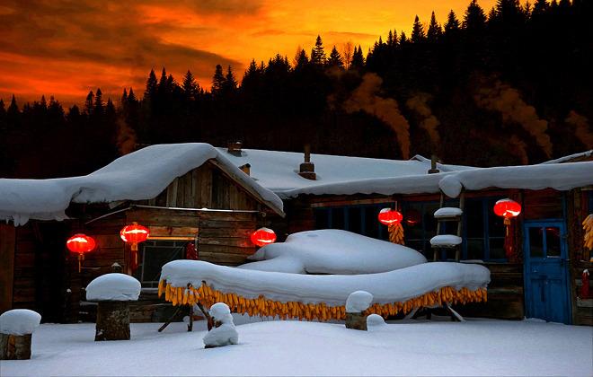 东北雪乡_中午抵达雪乡森林公园品尝东北林区特色餐,这里有北国最高的山峰,最密