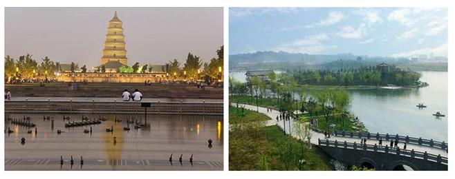 游览古都长安地标性古建筑——【大雁塔广场】(游览约40分钟),在北