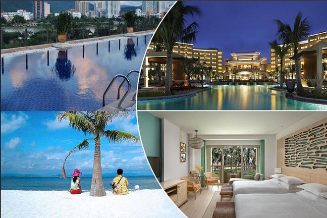 """酒店位于享有""""国家海岸""""美誉的海棠湾中心地带,与蜈支洲岛隔海相望,并"""
