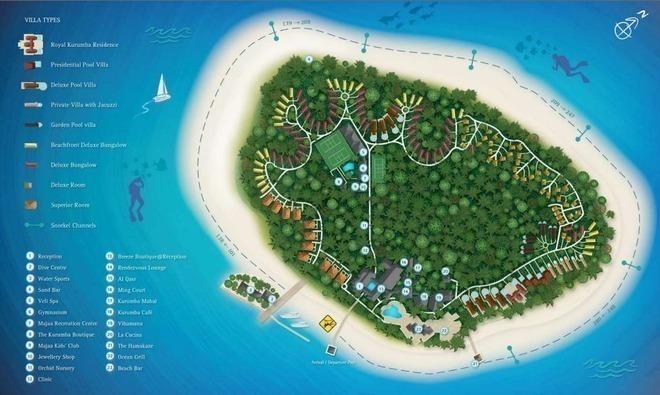 库鲁巴岛 地理位置:位于马尔代夫马累北环礁 酒店星级:四星级 酒店