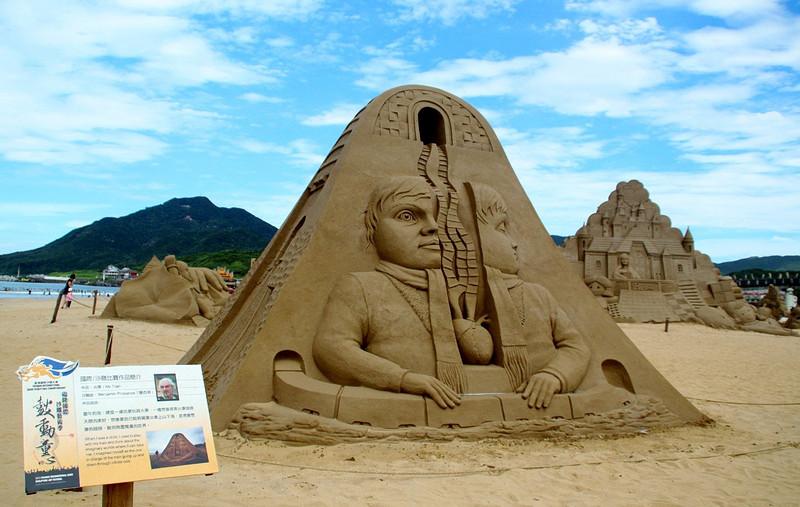 青岛第一海水浴场沙雕