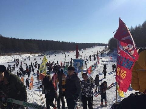 新立湖滑雪场旅游景点图片