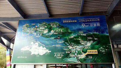 小梅沙旅游景点攻略图