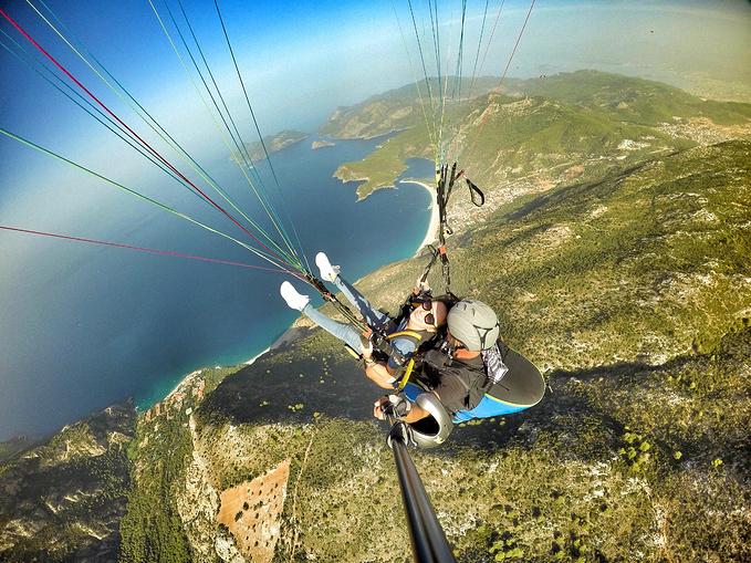 至于热气球和滑翔伞。图片