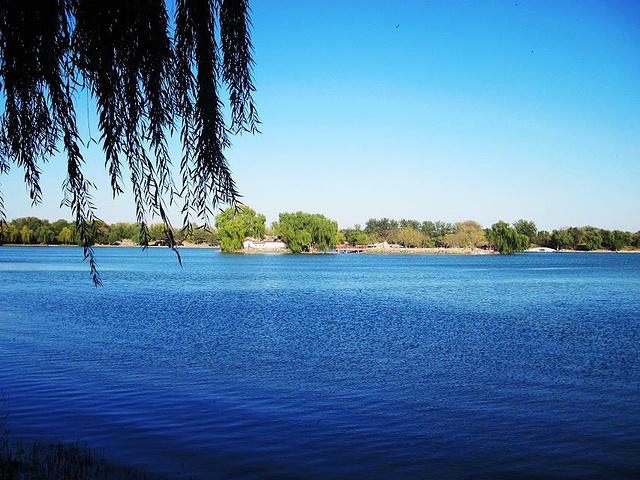"""""""如今的圆明园遗址其实是由圆明园、长春园和绮春园组成的还有一个非常宽阔的湖水叫做福海。指引还是很明显的_圆明园""""的评论图片"""