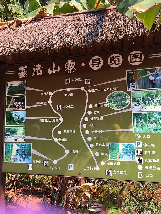 基诺山寨旅游导图