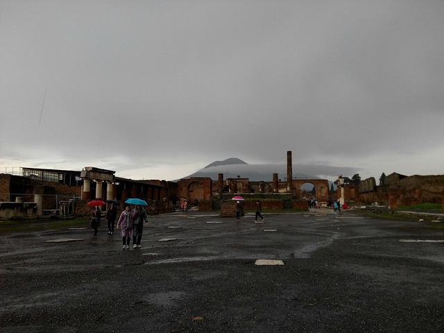 """""""有时间有兴趣的朋友可以报名当地的维苏威火山一日游,近距离接触一下这座壮观的活火山_庞贝古城遗址""""的评论图片"""