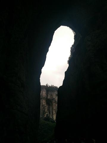 """""""看到了独特的喀斯特地貌,终于知道为什么这个地方容易发生泥石流了,说实话这一天我还挺担心突发地质灾害的_武隆天坑地缝国家地质公园""""的评论图片"""