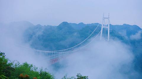 矮寨特大悬索桥旅游景点攻略图