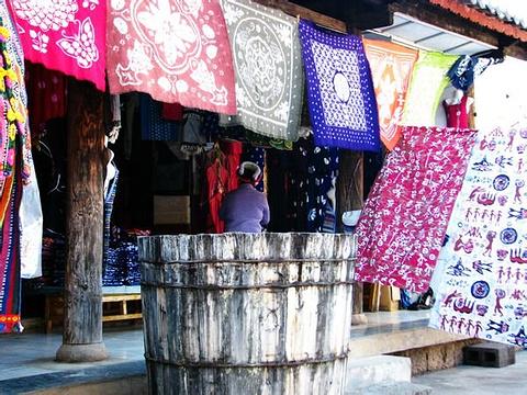 摩梭手织土围巾