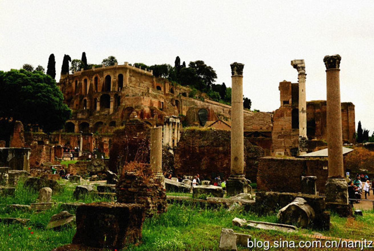 罗马的古城遗址