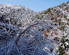冰雪牛头山,徜徉郭洞村