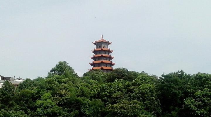 """""""而且非常晕,到了塔顶,可谓是风景这边独好,眺望湘潭和湘江,所有景色尽收眼底,远处的车水马龙,偌..._宝塔岭高峰塔""""的评论图片"""
