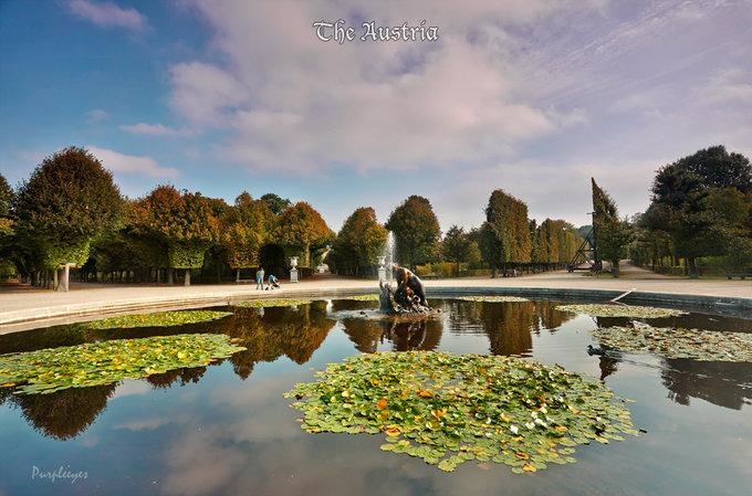 美泉宫后花园图片