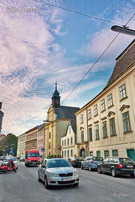 小镇景象图片