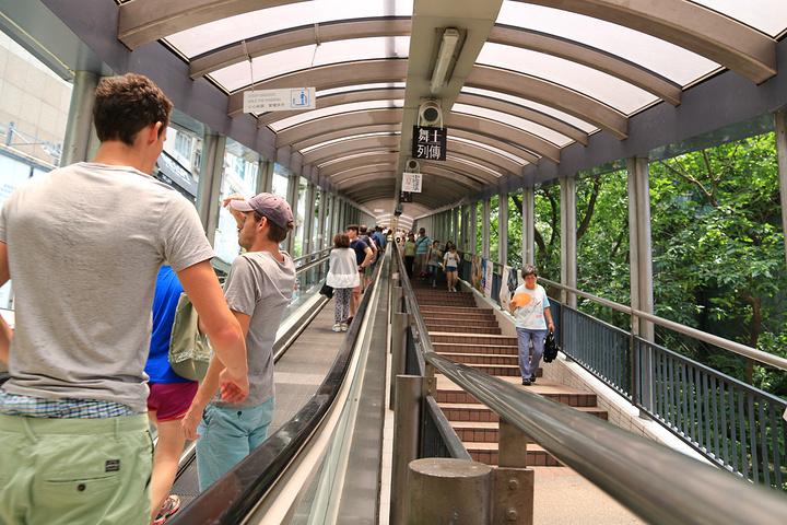 """""""没想到真的是超级长,那天我们乘坐的时候就只能坐电梯上去,我是因为看了重庆森林和running man_中环至半山自动扶梯""""的评论图片"""