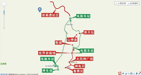 贺兰山岩画旅游景点攻略图